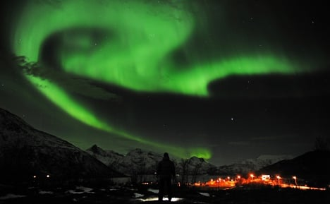Norway aglow in northern light show