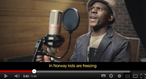 Africans aid freezing Norway in spoof video