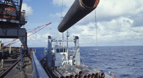 German mine found by subsea gas pipeline