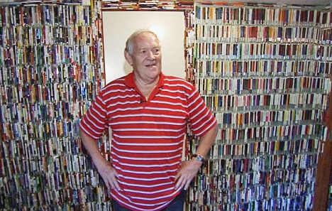 Norwegian wallpapers his house with pen collection