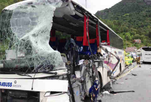 Two killed in Norway bus crash