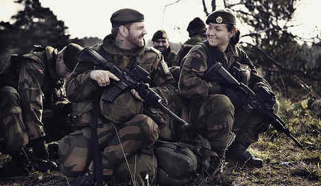 Norway's male soldiers allowed ponytails