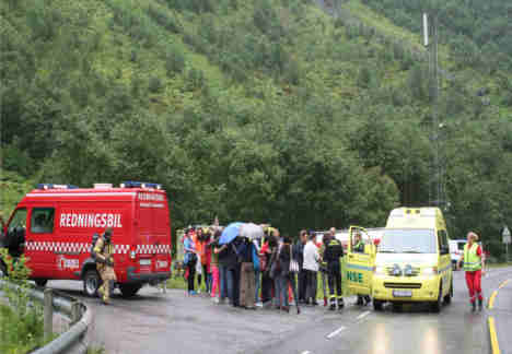 Fire in Norwegian tunnel sends 55 to hospital