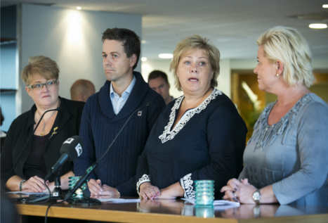 Leaders consult parties over Norway government