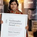 Malala Yousafzai, a 15 year old girl from Pakistan's Swat Valley became a symbol of children's education rights when she was hit by a bullet in the head and neck after protesting the Taliban's ban on education for girls on her blog. Nominated by MPs in France Canada and Norway, Yousafzai is Kristian Harpviken's favourite for the prize. Paddy Power is offering odds of 8/15, Unibet 3/5