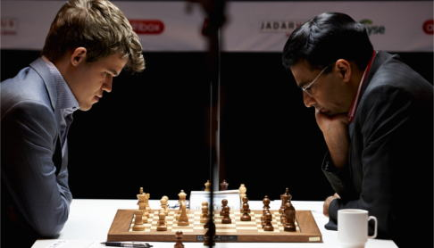 Carlsen draws third game in chess title fight