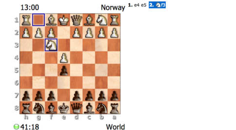 Norway challenges the world to internet chess