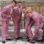 Norway's curling team back with crazy trousers