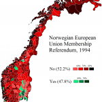 <b>Why is Norway... not part of the EU?</b><p></p> <p> Finally, why is the European nation of Norway not a member of the European Union? According to this referendum, it's because Norwegians simply don't want to be. But we suspect it has something to do with money. Or hockey.</p>