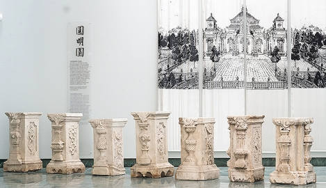 Bergen's marble columns returned to China