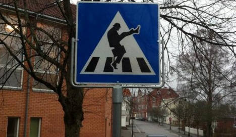 'Silly walk' sign enrages roads agency