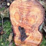 'The Scream' appears in a tree stump