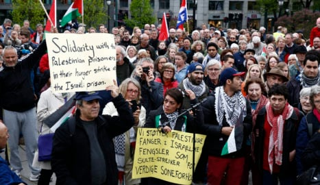 Israeli President met with protests in Norway
