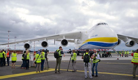 World largest plane touches down in Oslo