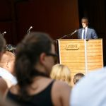 """Jonas Gahr Støre, leader of Norway's Labour Party, said during the Utøya memorial speech: """"We can show the strength of this society by not giving in to hate and violence. History tells that extremism cannot be silenced.""""Photo: Heiko Junge / NTB scanpix"""