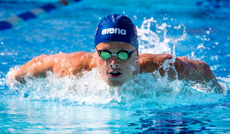 Lavrans Solli makes Euro final after record swim