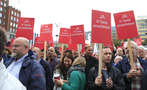 Mass strikes in Norway against new work laws