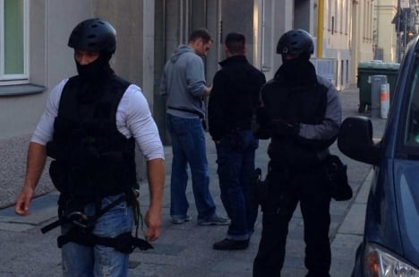 Police special operatives take up position at the Charité Hospital on Friday. Photo: <a href=