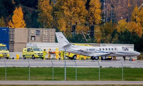 Ebola virus victim arrives in Norway by special jet