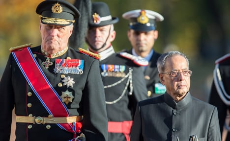 India's president meets King Harald in Norway