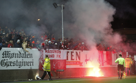 Trouble flares at crunch soccer game in Norway