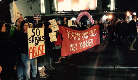 Feminists protest Fifty Shades opening