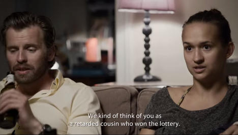 Norway 'retarded cousin who won the lottery'