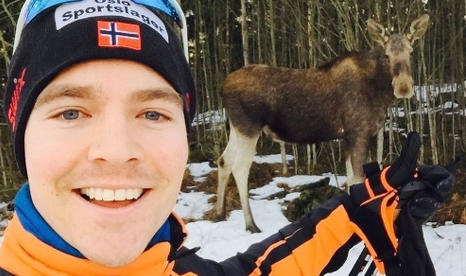 Norway's first 'Elk selfie' makes front page