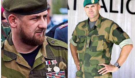 Why is Chechen Pres in Norway uniform?