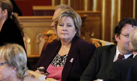 Solberg 'most chatty' leader on Twitter again