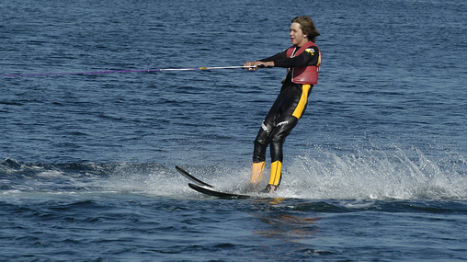 13-year-old water skis from Norway to Denmark