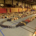 Norway town breaks book domino record