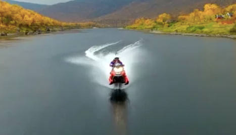 Norway man beats snowmobile water record