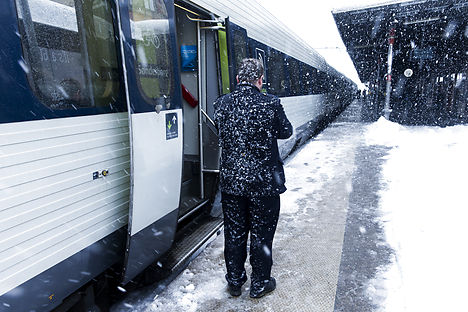 Train travel was to be affected through much of Monday. Photo: Jens Astrup/Scanpix