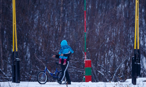 Freedom is a bike for migrants at Arctic border