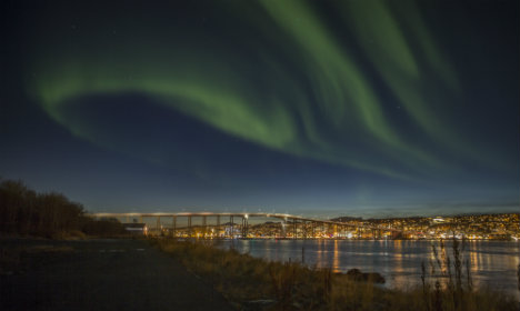 Northern lights wow locals in Norway's south