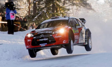 Mild weather plays havoc with Nordic car rally