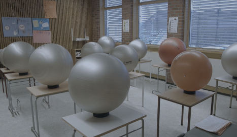 Norway school swaps chairs for rubber balls