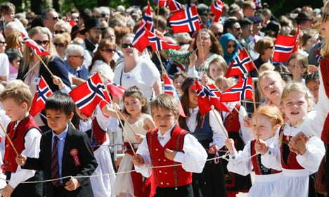 Record number of kids mark Norway's National Day