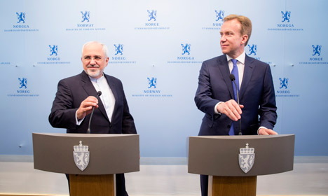 Norway slammed for inviting Iran's FM to peace talks