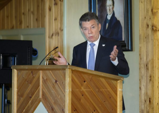Santos says Nobel 'a great stimulus' in quest for peace