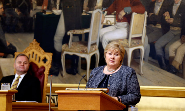 Norway's PM cites 'moral obligation' to fight Isis