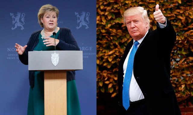 Norway's PM still waiting to hear from Trump