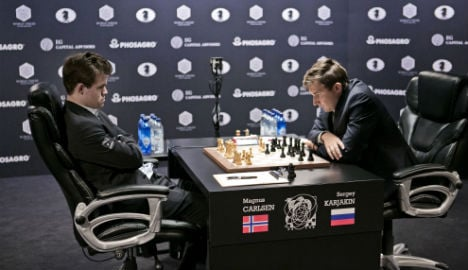 Russian and Norwegian draw in first championship game