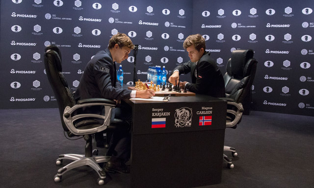 Norway's Carlsen and Russia's Karyakin even after four games