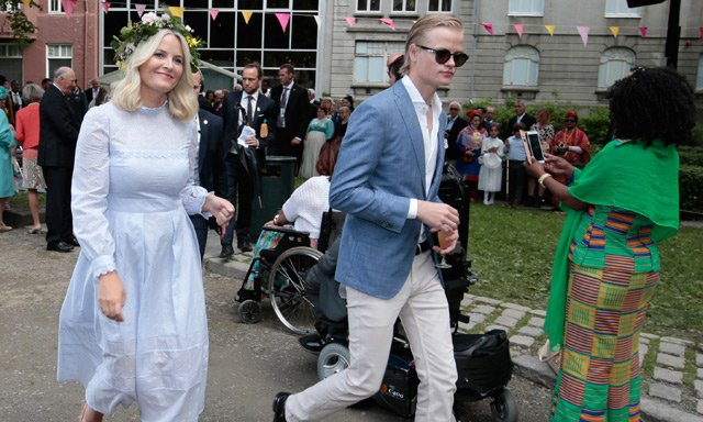 Norway's Crown Princess: Leave my son alone!