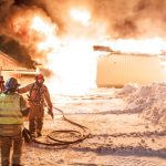 Fires claim woman's life and a school in two Norwegian towns