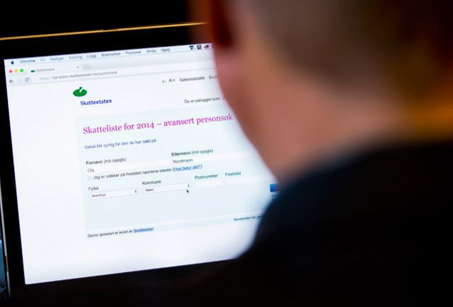 In Norway, everyone's tax info is just a click away