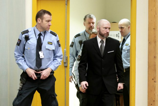 Breivik files prison case to European rights court: lawyer