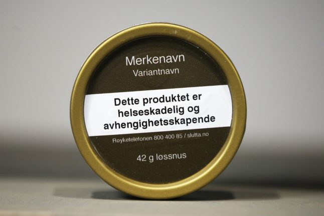 Swedish snus company sues Norwegian state over neutral packaging
